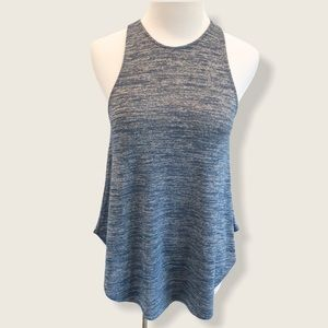 Wilfred Free Blue Marled Burnette Racerback Tank - Size Small